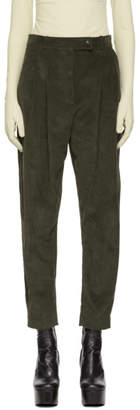 Awake Green Tapered Double Pleat Trousers