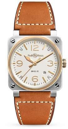 Bell & Ross BR03-92 18K Rose Gold Bezel Watch, 42mm