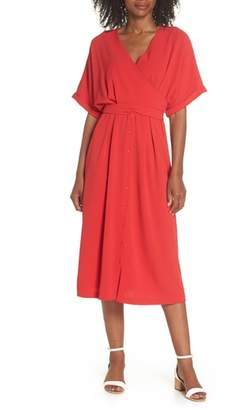 Felicity & Coco Dolman Sleeve Faux Wrap Dress