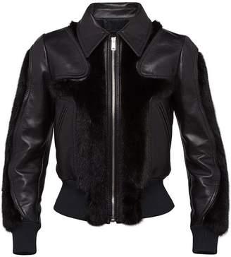 Prada leather and mink jacket