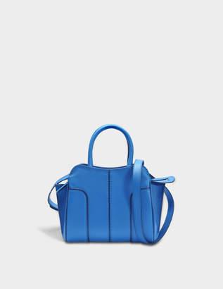 Tod's Sella Mini Bag in Bluette Grained Calfskin
