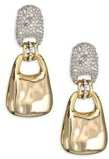 Alexis Bittar Elements Encrusted Swinging Clip Earrings