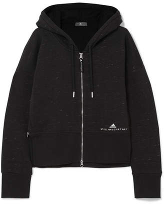 adidas by Stella McCartney Essentials Organic Cotton-blend Jersey Hoodie - Black