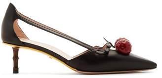Gucci - Unia Crystal Cherry Pumps - Womens - Black