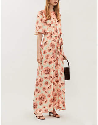 HAPPY X NATURE Solstice floral-print recycled-polyester maxi dress