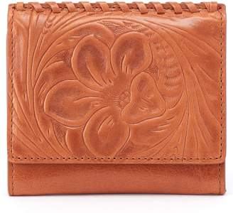 Hobo Stitch Embossed Calfskin Leather Card Case