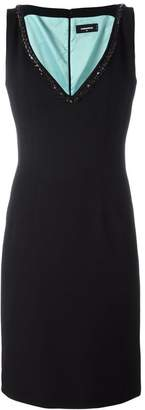 DSQUARED2 glass stone embellished dress