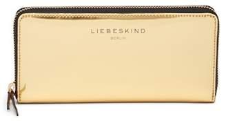 Liebeskind Berlin Patent Metallic Zip-Around Leather Wallet