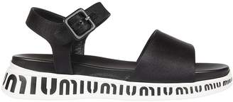 Miu Miu Logo Soles Flat Sandals