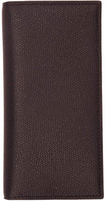 Valextra Black 12CC Vertical Wallet