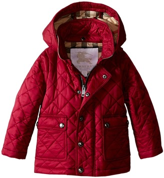 Burberry Kids - Quilted A-Line Jacket Girl's Coat $195 thestylecure.com