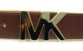 Michael Kors Womens Belt Gold Buckle Logo