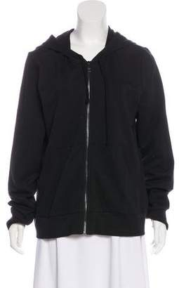 Burberry Hooded Zip-Up Sweater