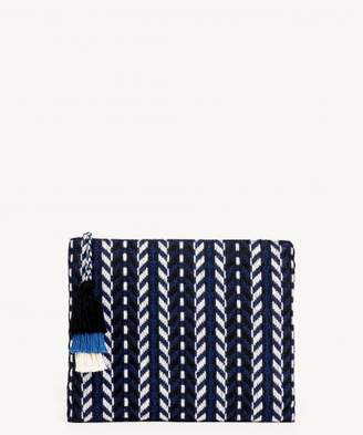 Sole Society Coy Fabric Embroidered Pouch
