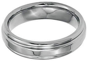Steel by Design Stainless Steel 6mm Ridged Edge Polished Ring