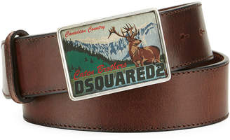DSQUARED2 Canadian Country Leather Belt