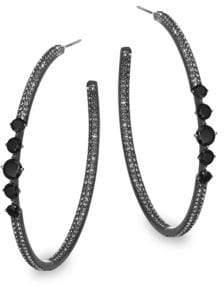 Adriana Orsini Noir Hoop Post Earrings