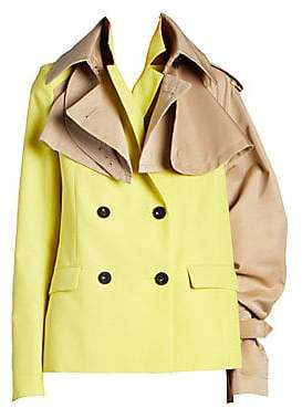 Sacai Women's Double-Breasted Trench Coat Blazer