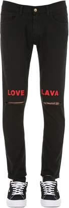 Love Lava Ripped Cotton Denim Jeans