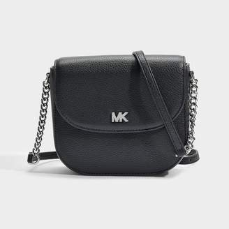 ee846d596 MICHAEL Michael Kors Half Dome Crossbody Bag In Black Small Pebble Leather