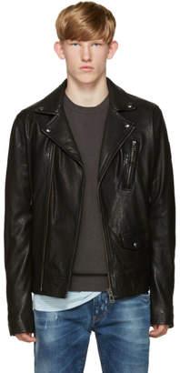 Belstaff Black Leather Beckenham Jacket