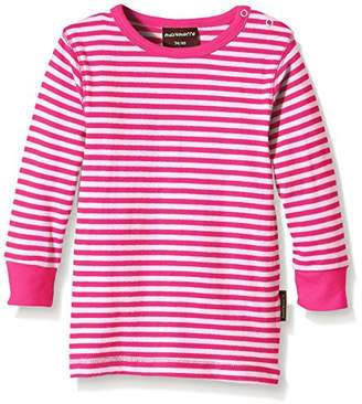 Maxomorra Unisex Baby BASI-M131 Top LS Striped Striped T-Shirt,(Manufacturer Size:50/56)