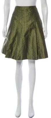 Etro Jacquard Knee-Length Skirt