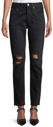 Levi's Premium 501 High-Rise Skinny Ankle Jeans
