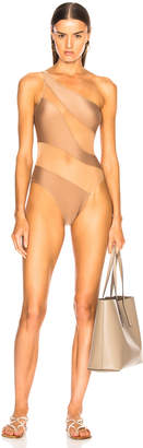 Norma Kamali for FWRD Snake Mesh Mio Swimsuit