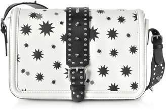 RED Valentino Black And White Star Printed Shoulder Bag