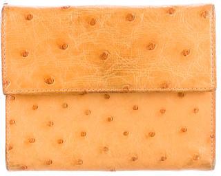 pradaPrada Struzzo Compact Bifold Wallet