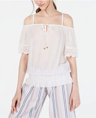 BCX Juniors' Off-The-Shoulder Peasant Top