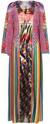 Mary Katrantzou Lapwing Patchwork Silk Kaftan Dress