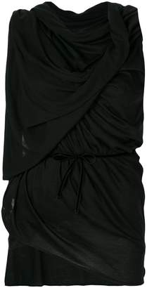 Ann Demeulemeester ruched sleeveless top