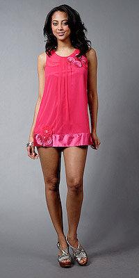 Fuschia Chiffon Cocktail Mini Dresses by eDressMe