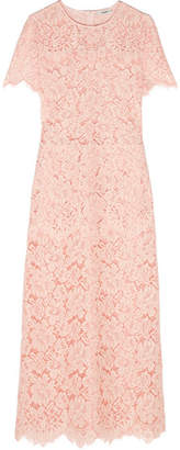 GANNI - Duval Corded Lace Maxi Dress - Pastel pink