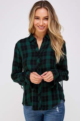 Gilli Green Flannel Shirt