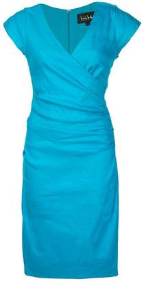 Nicole Miller wrap-front mid dress