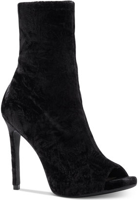 Jessica Simpson Rainer Peep-Toe Booties Women's Shoes $119 thestylecure.com