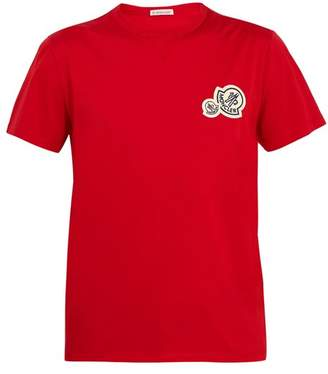Moncler Badge-appliqué cotton-jersey T-shirt
