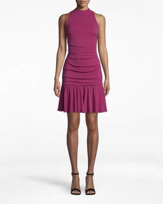 Nicole Miller Stretchy Matte Jersey Sleeveless Flare Dress