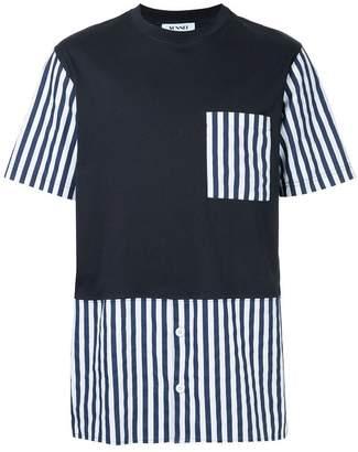 Sunnei striped details T-shirt