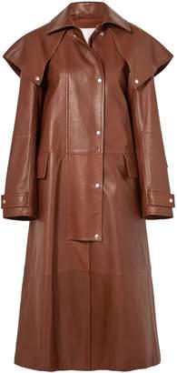 Calvin Klein (カルバン クライン) - Calvin Klein 205w39nyc ケープ風 レザー コート