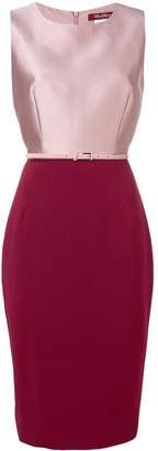 Max Mara fitted two-tone dress