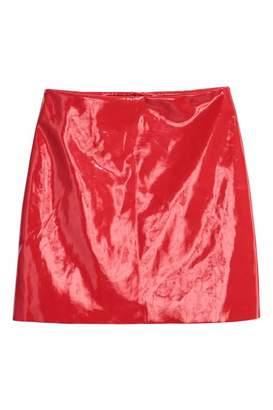 H&M Patent Skirt