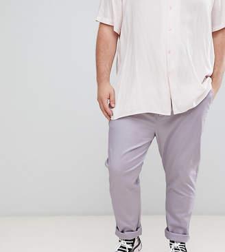 Asos DESIGN Plus skinny chinos in pastel purple