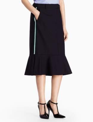 Calvin Klein striped wool peplum hem skirt