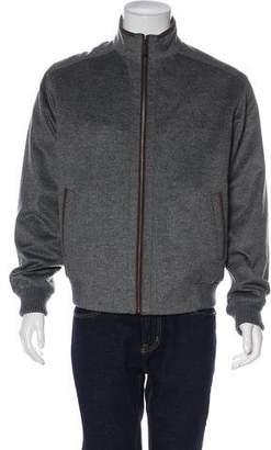 Peter Millar Wool & Cashmere Bomber Jacket