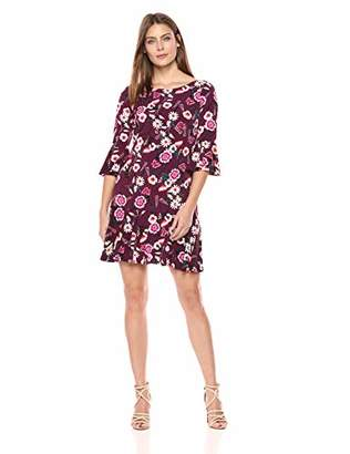 Eliza J Women's Floral Print Bell Sleeve Sheath Dress