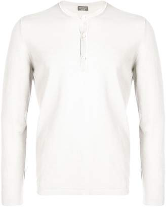 Dell'oglio long sleeve button top
